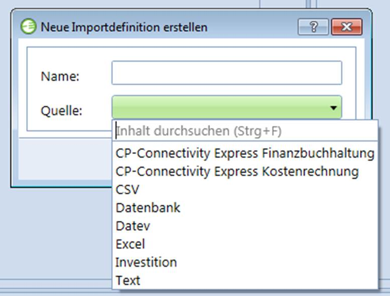 Controlling Software XML Schnittstellen Datenimport