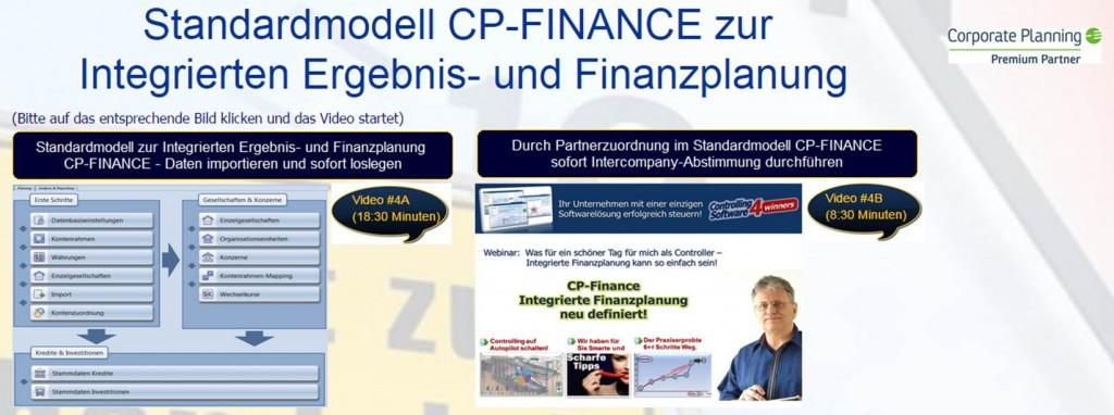 Integriertes Standardmodell Ergebnis und Finanzplanung CP Finance sofort einsetzen