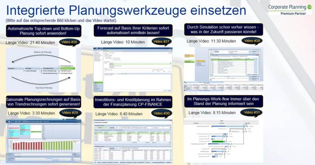 Standardisierte Planungswerkzeuge Corporate Planner sofort einsetzen