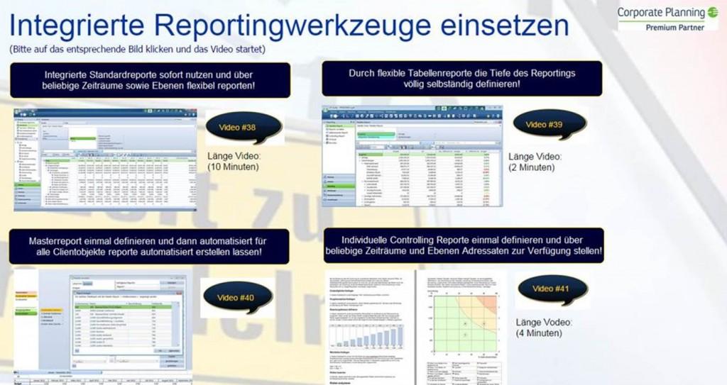 Standardisierte Reportingwerkzeuge Corporate Planner sofort einsetzen