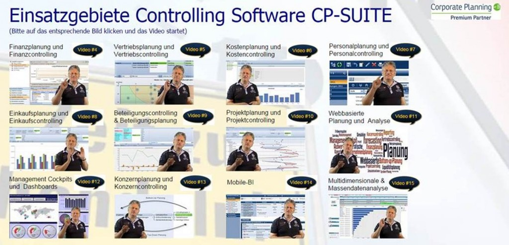 Video Kurs Controlling Software CP Suite Einsatzgebiete
