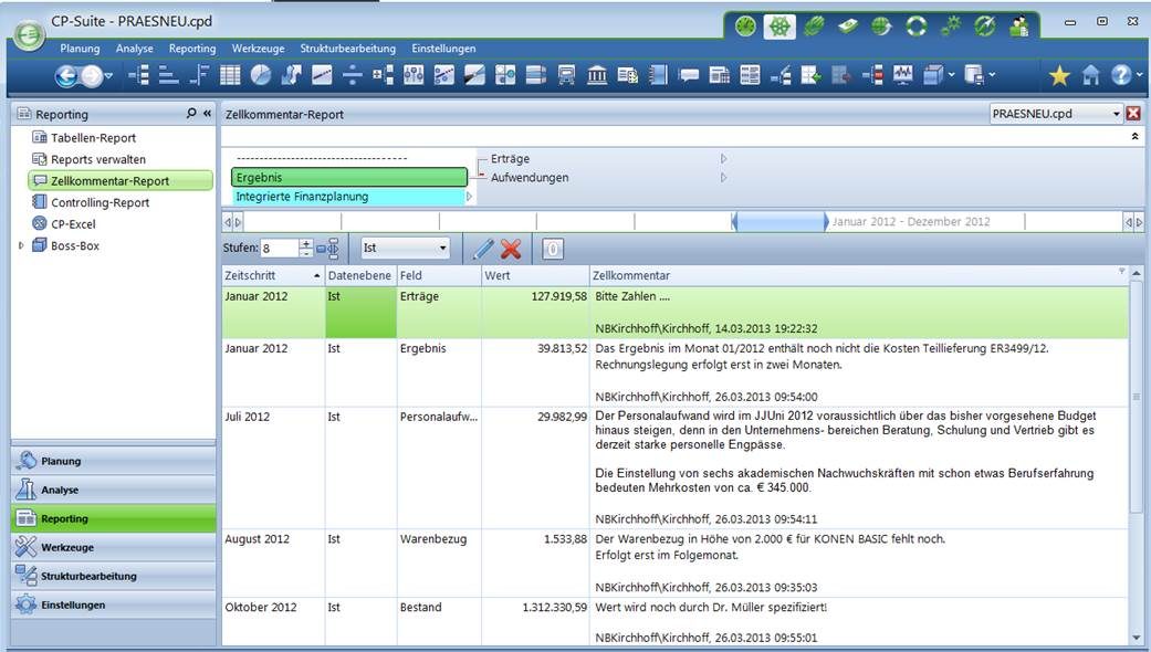 Controlling Software CP Suite Reporting