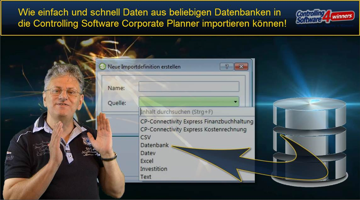 Corporate Planner Datenimport aus Datenbanken