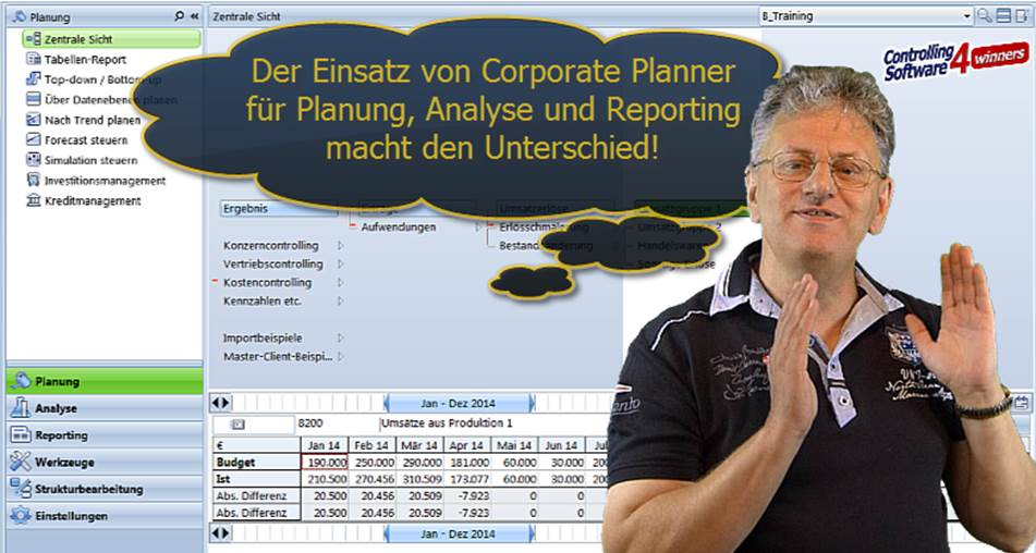 Corporate Planner und Controlling Reporting