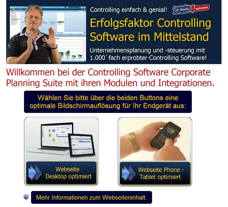 Desktop oder Phone Tablet optimierte Webseite