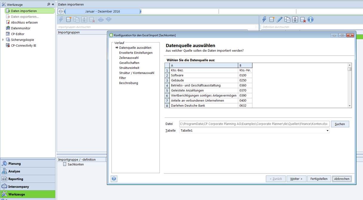 Inbetriebnahme Corporate Planner CP Finance 2