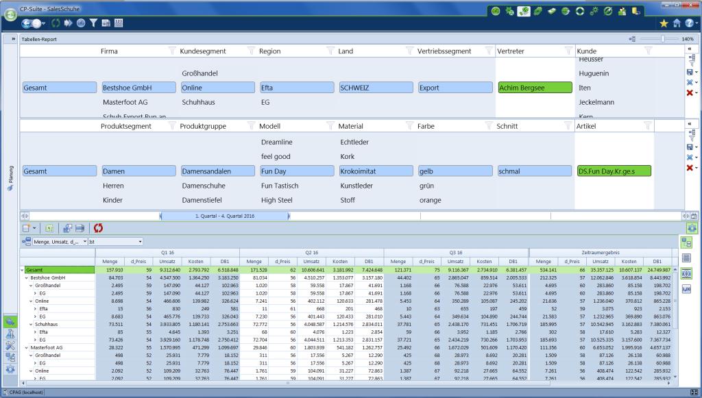 Multidimensionale Vertriebsplanung CP Sales
