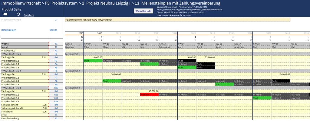 Projektmanagement-Meilensteinplanung-mit-Zahlungsvereinbarung