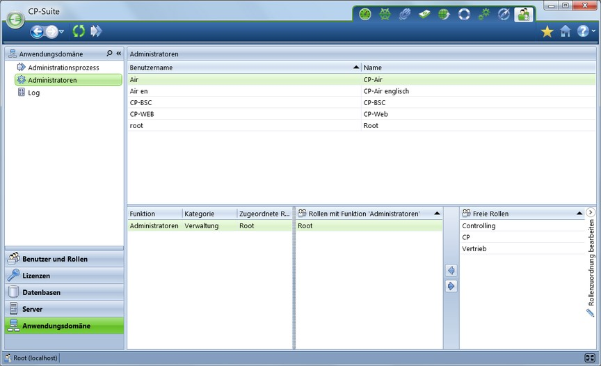 Workflow Planung CP Suite Teil 8 Administration einrichten
