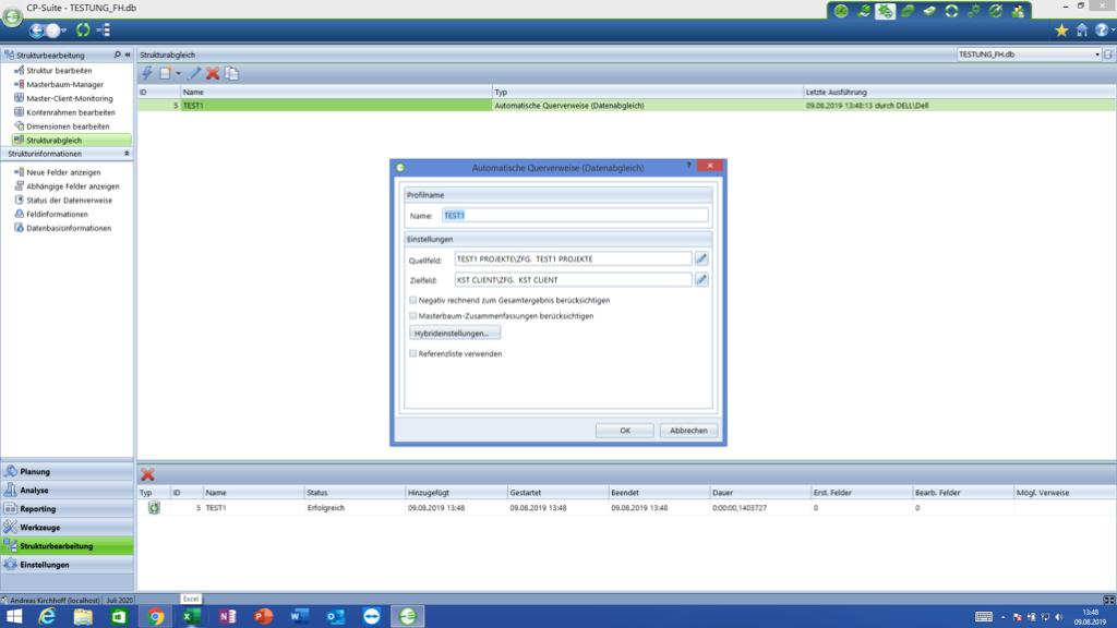 Corporate Planner Dateiverweise automatisiert erzeugen
