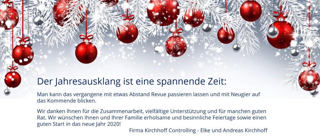 Frohe Weihnachten 2019 und ein erfolgreiches Jahr 2020