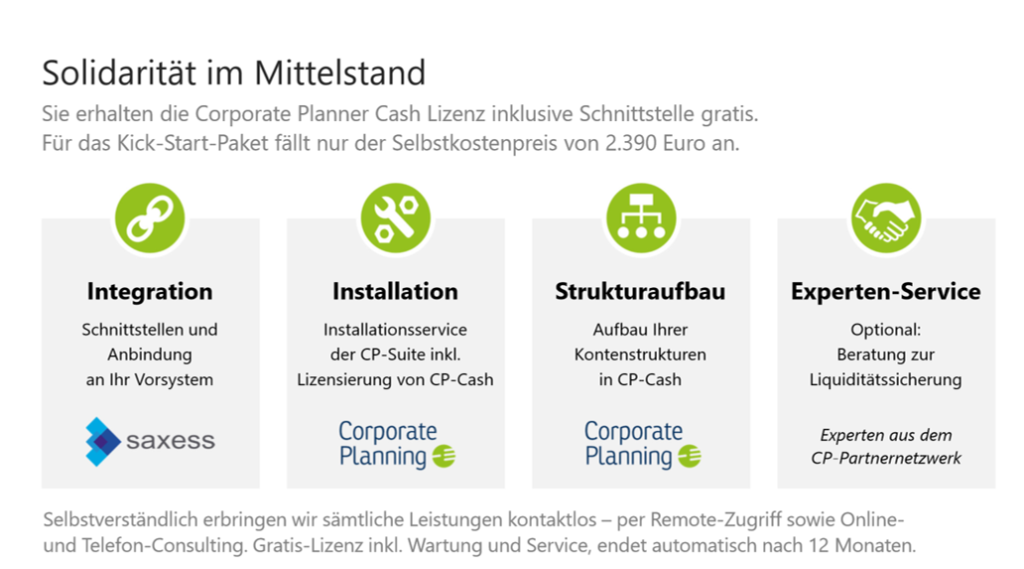 Corporate Planner Cash Solidaritaetspaket