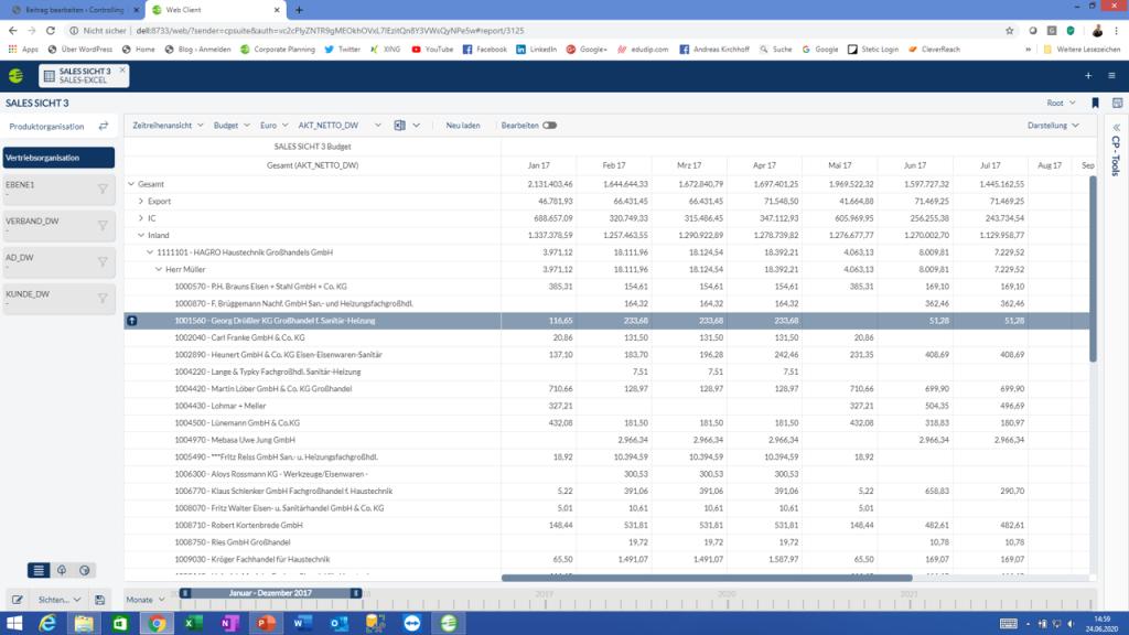 CP Sales ab sofort auch im Web Client
