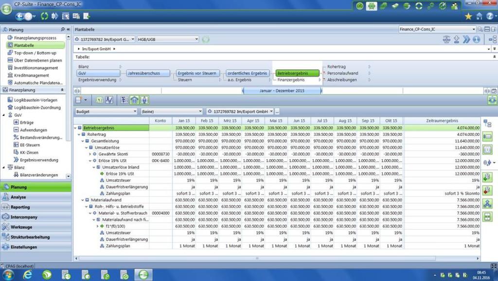 Was ist bei der Einrichtung CP Finance besonders zu beachten?