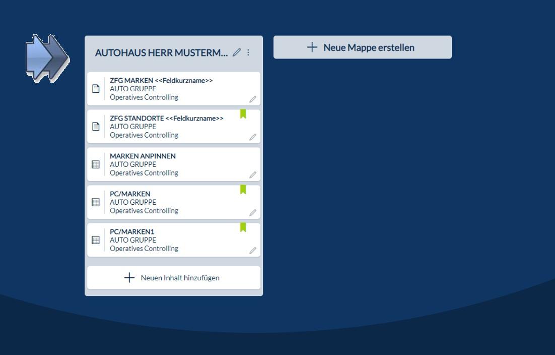 CP Suite Mappen Funktion zur Zusammenstellung beliebiger Inhalte