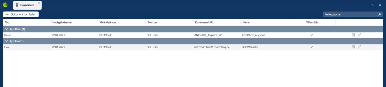 CP Suite externe Dokumente einbinden in den Web Client